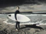 Hand-colored Infrared Image of a Surfer Photographic Print