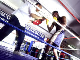 Trainer and Boxer in the Ring Photographic Print