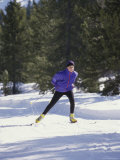 Teenage Boy Skiing Photographic Print