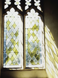 Blurred Image of a Stained Glass Window Photographic Print