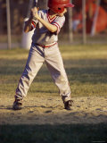 Little League Baseball Player Photographic Print