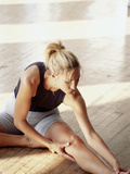 Woman Stretching Photographic Print