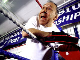Boxing Coach in a Boxing Ring Photographic Print