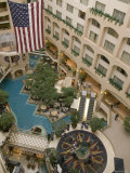 High Angle View of a Hotel Swimming Pool Photographic Print
