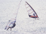 Computer Altered Image of Windsurfers Photographic Print