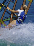 Female Windsurfer Photographic Print