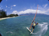 Fish-eye View of a Windsurfer Photographic Print