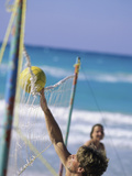 Playing Beach Volleyball Photographic Print