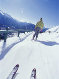 First Person View of Cross Country Skiing Photographic Print