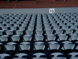 An Array of Seats in a Stadium Photographic Print