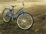 A Bicycle on a Lawn Photographic Print