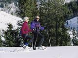 Snowshoeing, Sun Valley, Idaho, USA Photographic Print