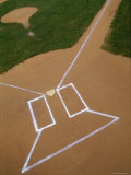 Markings on a Baseball Field Photographic Print