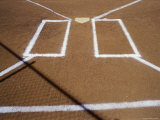 Chalk Lines on a Baseball Diamond Photographic Print