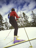 Female Skier Looking Uphill Photographic Print
