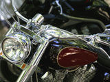 Close-up Image of a Motorcycle Photographic Print