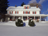 House in a Snow Covered Landscape Photographic Print