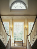 Double Staircase in Upscale Home Photographic Print
