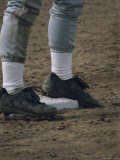 Close-up Image of a Baseball Player's Feet Photographic Print