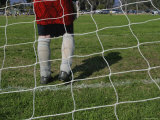 Rear View of Goalie at Net Photographic Print