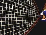 Close-up of a Person Holding a Tennis Racket Photographic Print