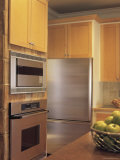 Kitchen with Stainless Steel Appliances Photographic Print