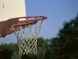 Close-up of a Basketball Hoop Photographic Print