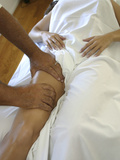 Woman Getting a Massage at a Spa Photographic Print