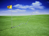 Time Elapsed Golf Shot Photographic Print