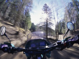 First Person View from a Moving Motorcycle Photographic Print