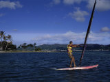 Young Man Windsurfing Photographic Print