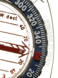 Close-up Image of a Compass Photographic Print