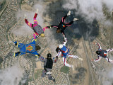 Skydivers Forming a Circle Photographic Print