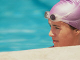 Young Female Swimmer in a Swimming Pool Photographic Print