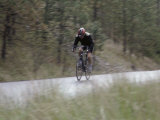 Man Cycling on a Bicycle Photographic Print