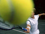 Close Up Tennis Ball Photographic Print