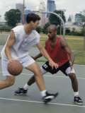 Men Playing Basketball Photographic Print