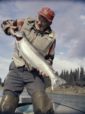 Silver Salmon, Kenai River, Alaska, USA Photographic Print
