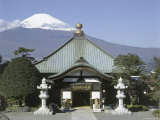 Nihonsanmyohoji Temple Mount Fuji, Japan Photographic Print