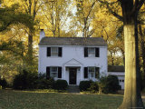 Traditional Home in Autumn Photographic Print