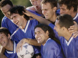 Soccer Team Together Photographic Print