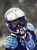 Portrait of a Male Motorcycle Racer Photographic Print