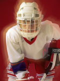Youth Hockey Player Photographic Print