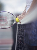 Person Holding a Tennis Racket Photographic Print