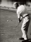 Rear View of a Man Playing Golf Photographic Print