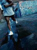 Man Jogging in the City Photographic Print