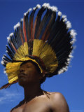 Bororo Indian, Mato Grasso, Brazil Photographic Print