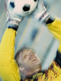 Goalie Saving a Ball Photographic Print
