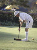 A Game of Croquet Photographic Print