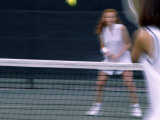 Tennis Players in Motion Photographic Print